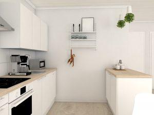 pienen valmistalon keittio